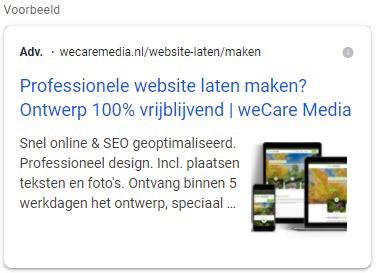 Afbeelding extensie Google Ads