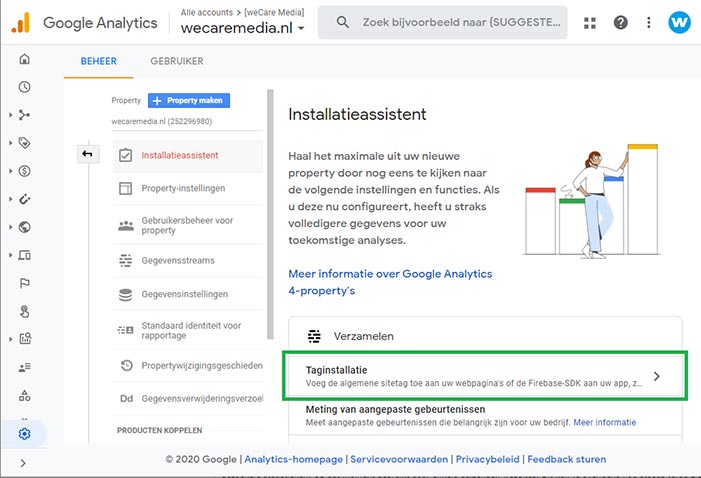 Google Analytics dual tracking stap 3