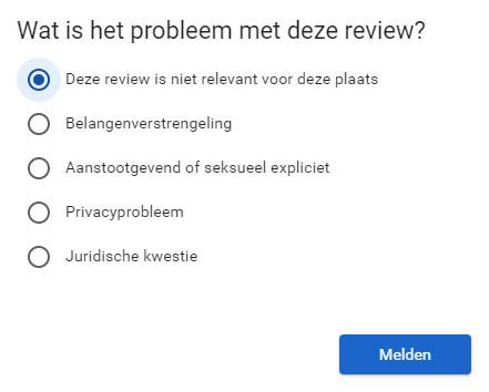 Google review verwijderen stap 2