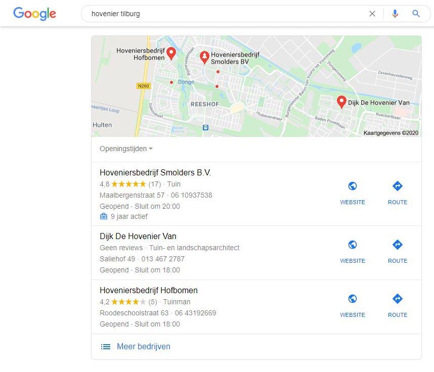 SERP hovenier Tilburg