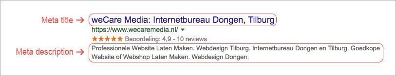 Meta-tags Google
